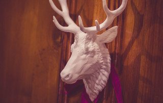 Deer, Stag, Reindeer head wall mount. Digital sculpture 3d print