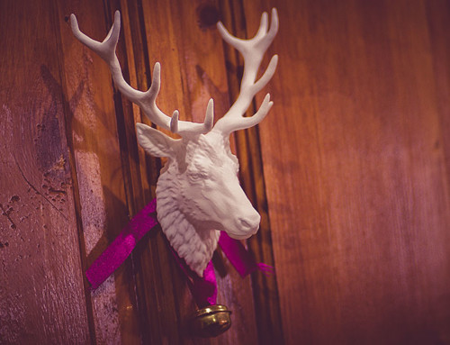 Reindeer head wall mount sculpture