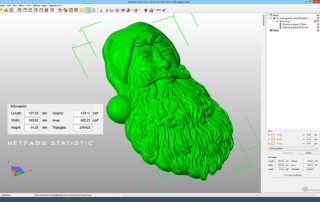 Santa Claus relief. 3D model digital sculpture for 3d printing, CNC carving, for making a mold to cast in metal, plastic, chocolate.