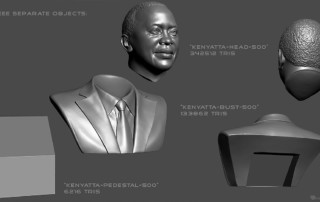 Male portrait bust for 3d printing zbrush digital sculpting