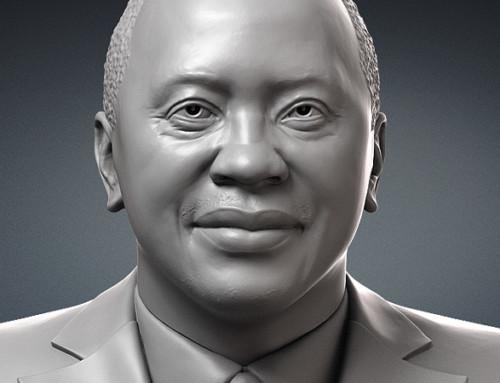Uhuru Kenyatta, president of Kenya portrait