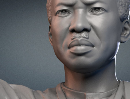 Julius Nyerere monument. 3d model for CNC carving