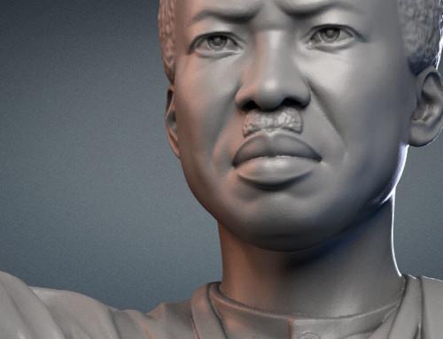 Julius Nyerere monument. 3d model for CNC carving