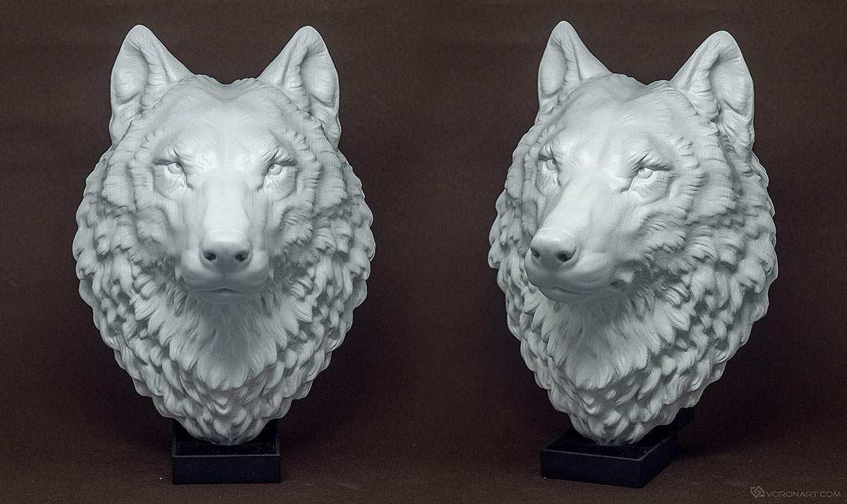 proud wolf head model, faux taxidermy wall mount
