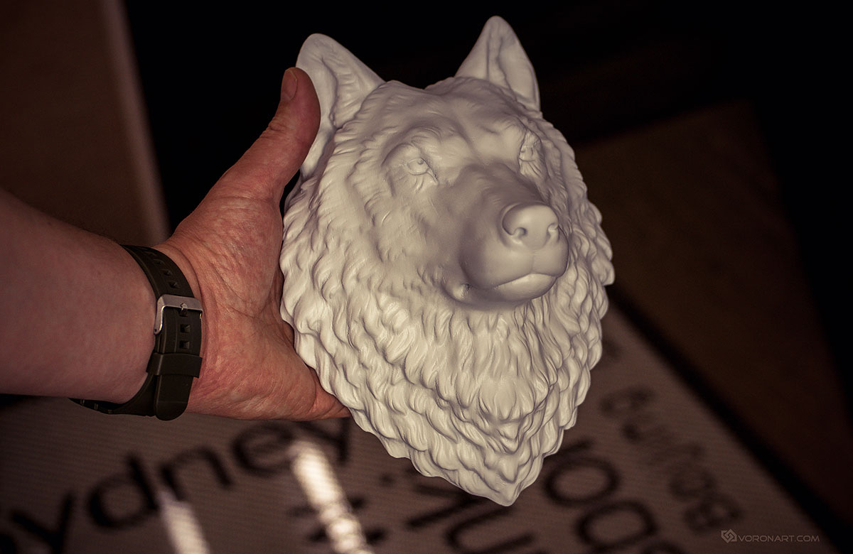 Wolf Head Digital Sculpture 3d Model Max Stl Obj Files