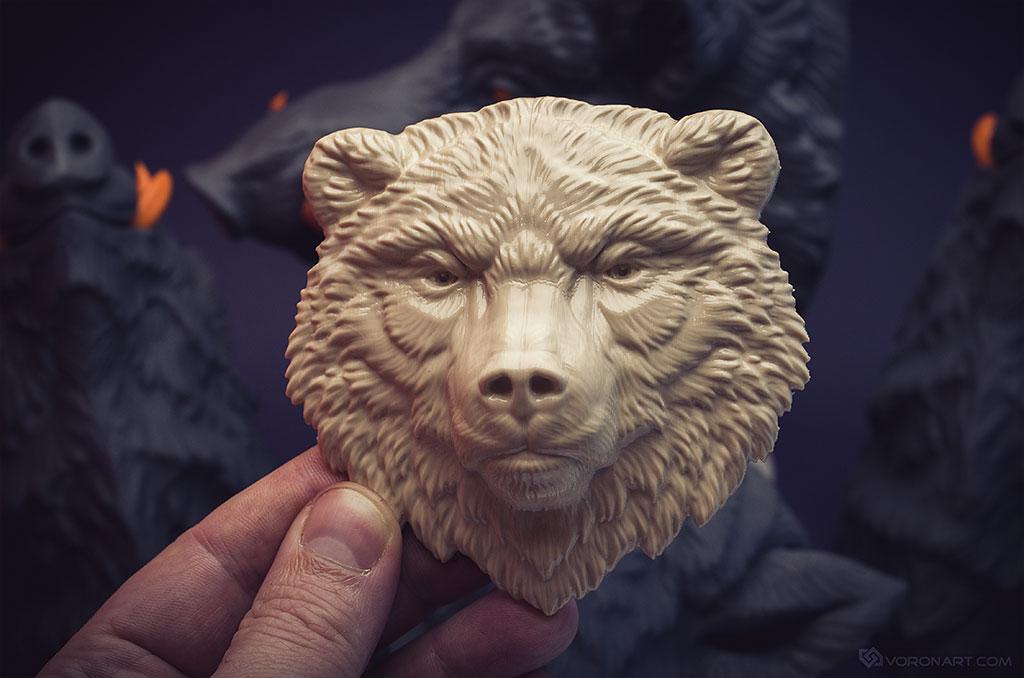 Bear relief. Work in progress