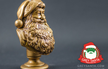 Grey Santa. Santa Claus gift statuette. digital sculpting for manufacturing