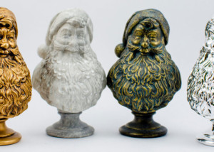 Grey Santa. Santa Claus gift statuette. digital sculpting for manufacturing