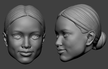 Portrait puppet heads for a TV show. Digital sculpting