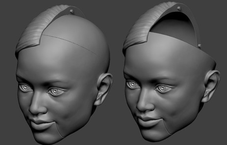 Portrait puppet heads for a TV show. Digital sculpting