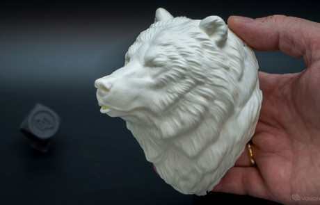 Grizzly bear, Brown bear head polyurethane resin casting. Done through 3d printing