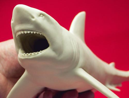 Great white shark base mesh model