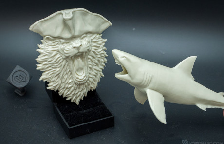 3d printable Lion the pirate relief. Test 3d printing in plastic