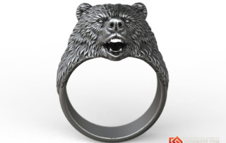 Brown Bear animal ring jewelry 3d model