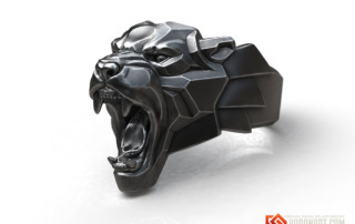 Angry Black Panther ring jewelry silver