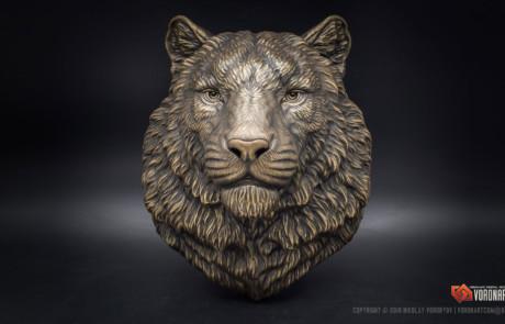 Siberian tiger bronze animal sculpture by Voronart